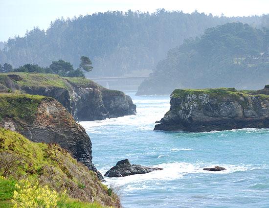 bay and rocks