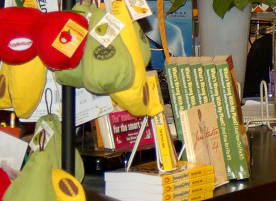 The bookstores displayed our book prominently in attractive displays.