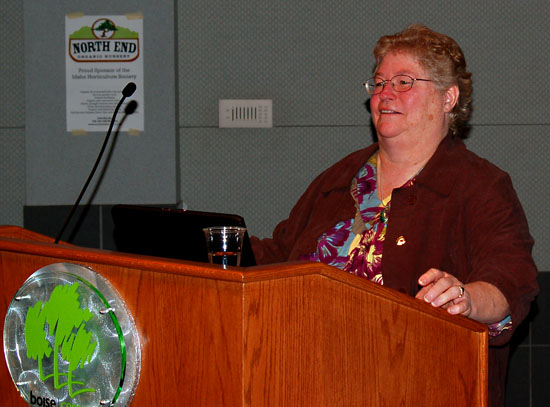 Kathryn speaking at the Idaho Horticultural Society Symposium in Boise.